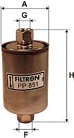 Топливный фильтр Filtron PP851 -