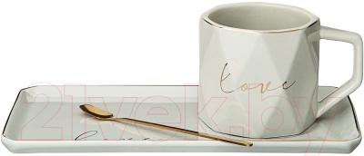 Чашка с блюдцем Lefard Break Time / 90-1059