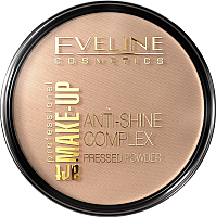 Пудра компактная Eveline Cosmetics Anti Shine Complex Pressed Powder тон 35 golden beige (14г) -
