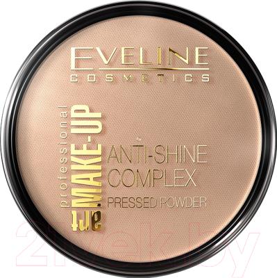 Пудра компактная Eveline Cosmetics Anti Shine Complex Pressed Powder тон 35 golden beige компактная пудра basics smoothing silky pressed powder 11г 501 cool beige