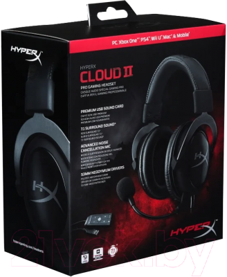 Наушники-гарнитура HyperX Cloud II (KHX-HSCP-GM)