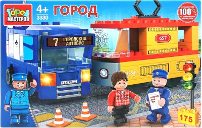Конструктор Город мастеров Авария: троллейбус и трамвай / 3330-KK