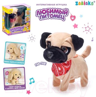 Фото - Интерактивная игрушка Zabiaka Любимый питомец: щенок / 4668306 интерактивная мягкая игрушка mioshi active весёлый щенок mac0601 006 белый