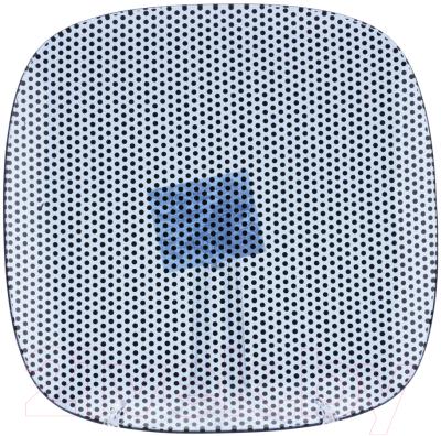 Тарелка столовая мелкая Zibo Shelley Синяя точка / S350010R