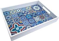 Поднос Grifeldecor Марокко со стеклом / BZ182-8W201 -