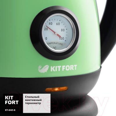 Электрочайник Kitfort KT-642-6 (светло-зеленый)