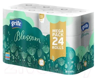 Туалетная бумага Grite Blossom (24рул, трехслойная белая )