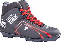 Ботинки для беговых лыж TREK Level SNS (черный/красный, р-р 34) -
