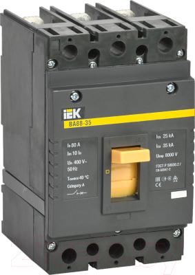 Выключатель автоматический IEK ВА 88-35 3п 80А 35кА С / SVA30-3-0080