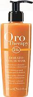 Тонирующая маска для волос Fanola Oro Therapy 24k увлажняющая золото (250мл) -