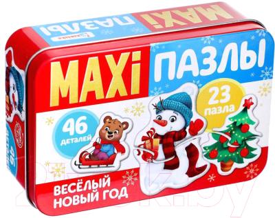 Набор пазлов Puzzle Time Веселый Новый год Макси-пазлы / 4868653