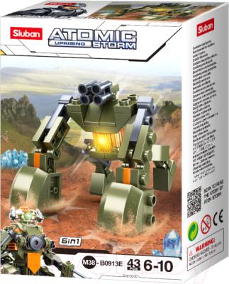 Конструктор Sluban Атомная буря. Военный робот / RC-M38-B0913E