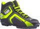 Ботинки для беговых лыж TREK Omni NNN (черный/лайм, р-р 33) -