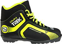 Ботинки для беговых лыж TREK Omni NNN (черный/лайм, р-р 38) -