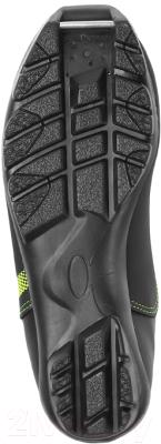 Ботинки для беговых лыж TREK Omni NNN (черный/лайм, р-р 41)
