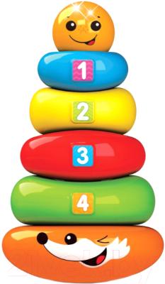 Развивающая игрушка Азбукварик Пирамидка-неваляшка Колобок Люленьки / 4630027292322