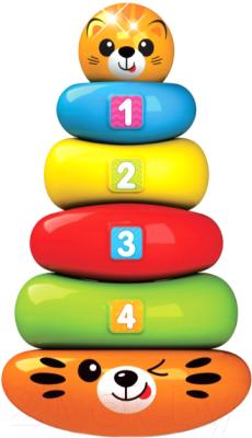 Развивающая игрушка Азбукварик Пирамидка-неваляшка Тигренок Люленьки / 4630027292315