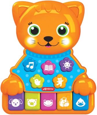 Развивающая игрушка Азбукварик Котик Музыкальные зверята / 4680019283890