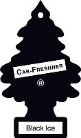 Ароматизатор автомобильный Little Trees Черный лед 78092 -