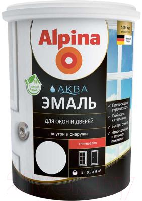 Эмаль Alpina Аква для окон и дверей глянцевая