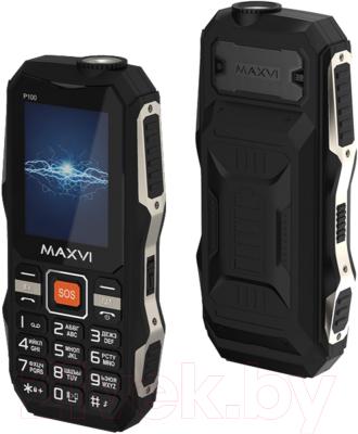 Мобильный телефон Maxvi P100 мобильный телефон maxvi b9 black