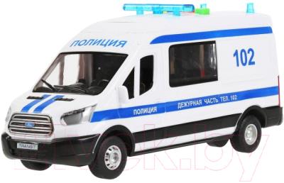 Автомобиль игрушечный Технопарк Ford Transit Полиция / TRANSITVAN-22PLPOL-WH