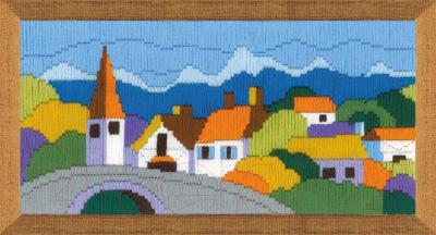 Набор для вышивания Риолис Городок в горах / 1630