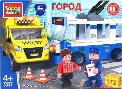 Конструктор Город мастеров Авария: троллейбус + такси / 3331-KK