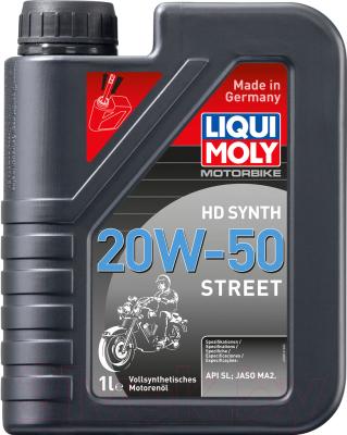 Моторное масло Liqui Moly Motorbike HD Synth 20W50 Street / 3816 (1л)