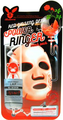Маска для лица тканевая, 4 шт. Elizavecca Red Ginseng Deep Power Ringer Mask Pack недорого