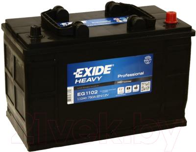 Автомобильный аккумулятор Exide Professional EG1102