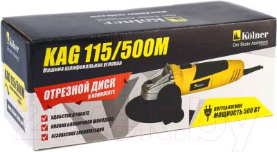 Угловая шлифовальная машина Kolner KAG 115/500M