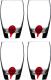Набор стаканов Luminarc Drip red E5230 -