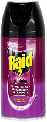Спрей от насекомых Raid Против ползающих и летающих насекомых Лаванда