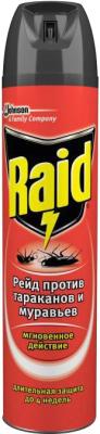 Спрей от насекомых, 2 шт. Raid Против тараканов и муравьев