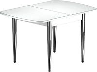 Обеденный стол Васанти Плюс БРФ 110/142x70/1Р (хром/белый) -