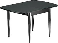 Обеденный стол Васанти Плюс БРФ 110/142x70/1Р (хром/черный) -
