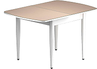 Обеденный стол Васанти Плюс БРФ 100/132x60/1Р (белый/бежевый) -