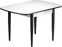 Обеденный стол Васанти Плюс БРФ 100/132x60/1Р (черный/белый) -