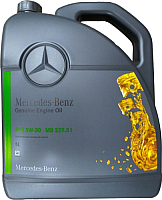 Моторное масло Mercedes-Benz 5W30 MB228.51 / A000989480413FDEE (5л) -