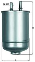 Топливный фильтр Knecht/Mahle KL485/15D -