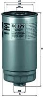 Топливный фильтр Knecht/Mahle KC179 -
