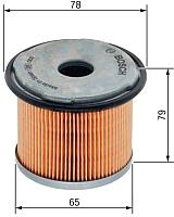 Топливный фильтр Bosch 1457431712 -