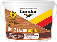 Защитно-декоративный состав CONDOR Holz Lazur Aqua (900г, натуральный) -