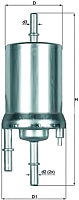 Топливный фильтр Knecht/Mahle KL156/1 -