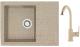 Мойка кухонная Berge BG-5850 + смеситель GR-3505 (песочный глянец/классик) -
