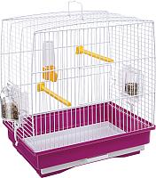 Клетка для птиц Ferplast Rekord 2 / 52007811W1 (белый/фиолетовый) -