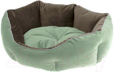 Лежанка для животных Ferplast Queen 45 / 83404502 (зеленый/коричневый)