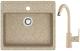 Мойка кухонная Berge BR-5750 + смеситель GR-3505 (песочный/классик) -