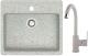 Мойка кухонная Berge BR-5750 + смеситель GR-3505 (серый/базальт) -